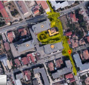 Mărăști: zona Străzii Molnar Piuariu