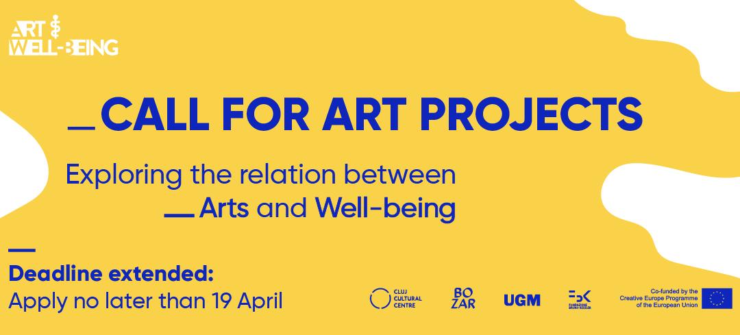 Deadline prelungit pentru înscrierierea proiectelor artistice care explorează relația dintre artă, sănătate și starea de bine