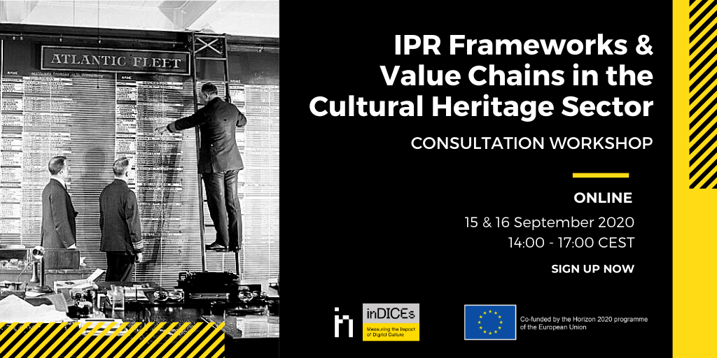 Consultation workshop with cultural heritage sector under the inDICEs project