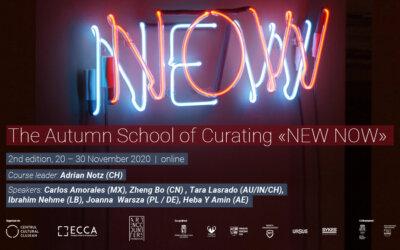 «NEW NOW»: Școala curatorială de toamnă revine cu cea de-a doua ediție, online (20-30 noiembrie 2020)