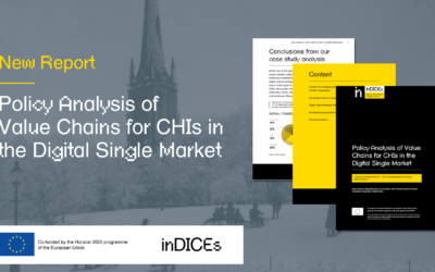 """New InDICEs report """"Policy Analysis of Value Chains for CHIs in the Digital Single Market"""""""